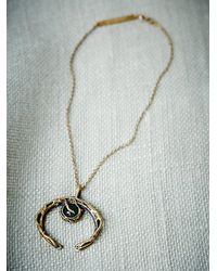 Free People | Metallic Break A Stone Womens Agate Crescent Necklace | Lyst