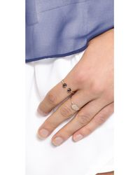 Ginette NY - Metallic Baubles Small Bead Ring - Rose Gold/Black - Lyst