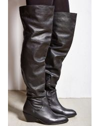 Ecote - Black Fiona Over-the-knee Boot - Lyst