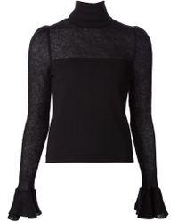 Giambattista Valli - Black Flared Sleeve Sweater - Lyst