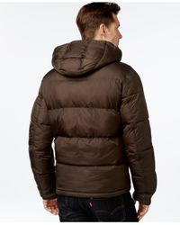 Levi's | Green Hooded Puffy Jacket for Men | Lyst
