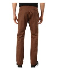 RVCA | Brown The Week-end Pant for Men | Lyst