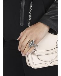Alexander McQueen - Metallic Silver Plated Chain And Skull Ring - Lyst