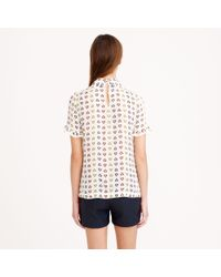 J.Crew - White Preorder Collection Ruffled Pintuck Blouse in Heart Dot - Lyst