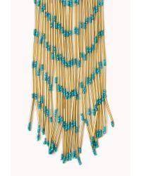 Forever 21 - Blue Gone Boho Fringe Necklace - Lyst