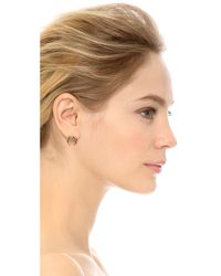 Rachel Zoe - Multicolor Safari Mini Crescent Stud Earrings - Lyst