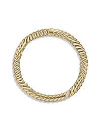 David Yurman | Metallic Hampton Cable Necklace With Diamonds In 18k Gold | Lyst