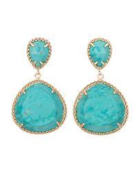Kendra Scott | Green Penny Post Earrings | Lyst