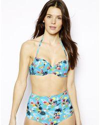 ASOS - Multicolor Fuller Bust Exclusive Hula Girl Hawaiian Bikini Top Dd-F - Lyst