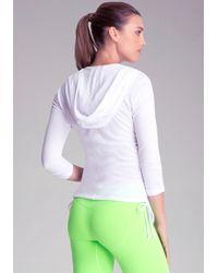 Bebe - White Popover Mesh Gym Jacket - Lyst