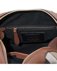 Burberry - Brown Sm Alchester House Check Bag - Lyst