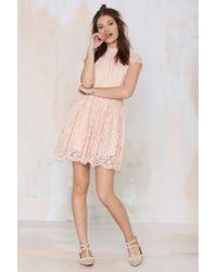 Keepsake - Natural Eclipse Lace Dress - Lyst