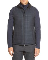 Vince Camuto - Blue Zip Front Wool Blend Vest for Men - Lyst
