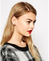 ASOS | White Limited Edition Multiway Double Stud Earring In Faux Pearl | Lyst