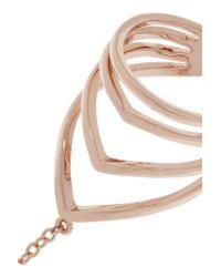 Arme De L'Amour - Metallic Rose Gold-Plated Finger Bracelet - Lyst