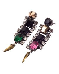 Iosselliani | Metallic Rhinestone Earrings | Lyst
