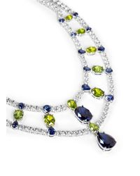CZ by Kenneth Jay Lane | Multicolor Cubic Zirconia Double Bib Necklace | Lyst