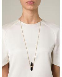 Isabel Marant | Black Crystal Pendant Necklace | Lyst