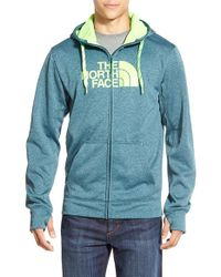 The North Face Blue 'surgent Half Dome' Full Zip Hoodie for men
