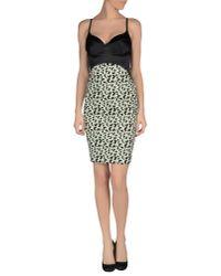 Au Jour Le Jour - Green Short Dress - Lyst