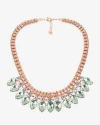 Ted Baker | Green Teardrop Crystal Necklace | Lyst