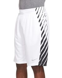 Nike | White 'elite Powerup' Dri-fit Basketball Shorts for Men | Lyst