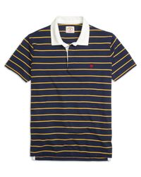 Brooks Brothers | Blue Rugby Stripe Polo Shirt for Men | Lyst
