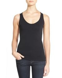NYDJ | Black Contour Knit Body Shaper Tank | Lyst