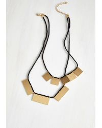 Ana Accessories Inc - Black My Geo My Necklace In Gold Rectangles - Lyst