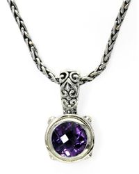 Effy | Metallic Balissima Sterling Silver And 18kt. Yellow Gold Amethyst Pendant | Lyst