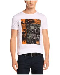 BOSS Orange | White T-shirt 'timblin 1' With Round Neckline for Men | Lyst