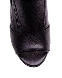 Splendid | Black Janet Open-toe Leather Ankle Booties | Lyst