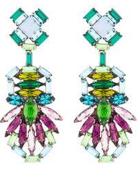 DANNIJO - Purple Crystal Barney Drop Earrings - Lyst