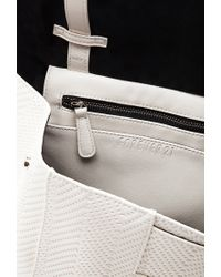 Forever 21 - White Chevron-Textured Faux Leather Backpack for Men - Lyst