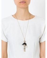 Servane Gaxotte - Metallic Pig Pendant Necklace - Lyst