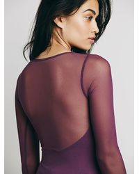 Free People   Purple Intimately Womens Mesh Low Back Layering   Lyst