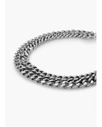 Mango - Metallic Chain Mesh Necklace - Lyst