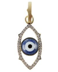 Sylva & Cie - Blue Agate Evil-Eye Charm Pendant - Lyst
