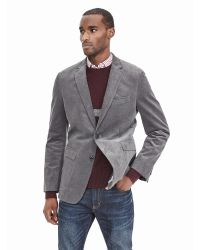 Banana Republic | Gray Modern Slim Corded Blazer for Men | Lyst