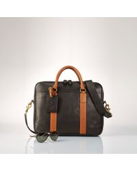 Polo Ralph Lauren - Black Smooth Leather Commuter Bag for Men - Lyst