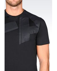 Emporio Armani - Black Jersey T-shirt for Men - Lyst