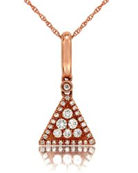 Marco Moore | Pink Diamond And 14k Rose Gold Triangle Pendant Necklace | Lyst