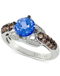 Le Vian | Chocolatier Blue Topaz (1-1/5 Ct. T.w.) And Diamond (2/5 Ct. T.w.) Ring In 14k White Gold | Lyst
