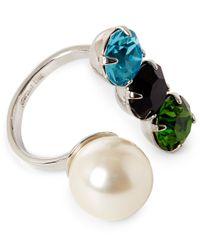 Joomi Lim | White Assorted Swarovski Crystal Open Ring | Lyst