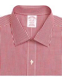 Brooks Brothers | Red Non-iron Madison Fit Gingham Dress Shirt for Men | Lyst