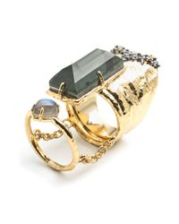 Alexis Bittar - Metallic 2 Part Paired Cocktail Ring - Lyst
