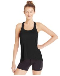 Betsey Johnson | Black Space-dyed Racerback Tank Top | Lyst