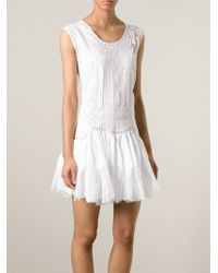 Ermanno Scervino | White Lace Details Flared Dress | Lyst