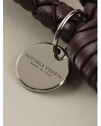 Bottega Veneta - Red Braided Keyring - Lyst