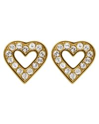Dyrberg/Kern - Metallic Dyrberg/kern Acora Heart Stud Earrings - Lyst